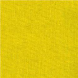 Cotton Broadcloth Bright Yellow Fabric