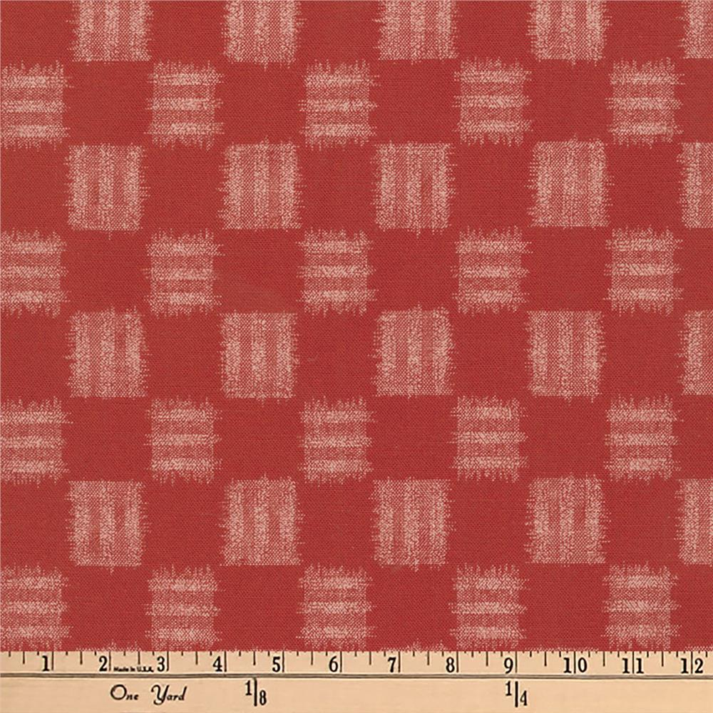 Kaufman Kasuri Check Plaid Red