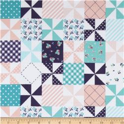 Riley Blake Country Girl Flannel Country Patchwork Pink