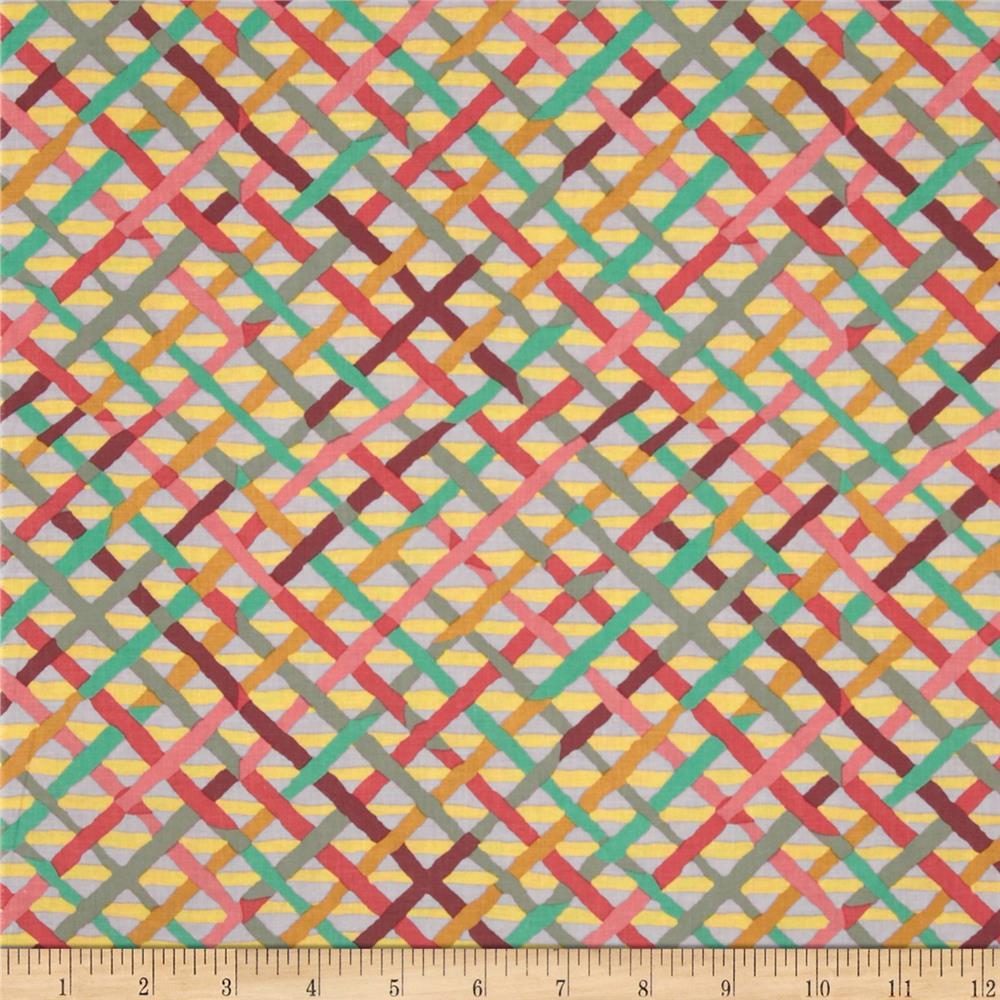 Kaffe Fassett Collective Mad Plaid Mauve