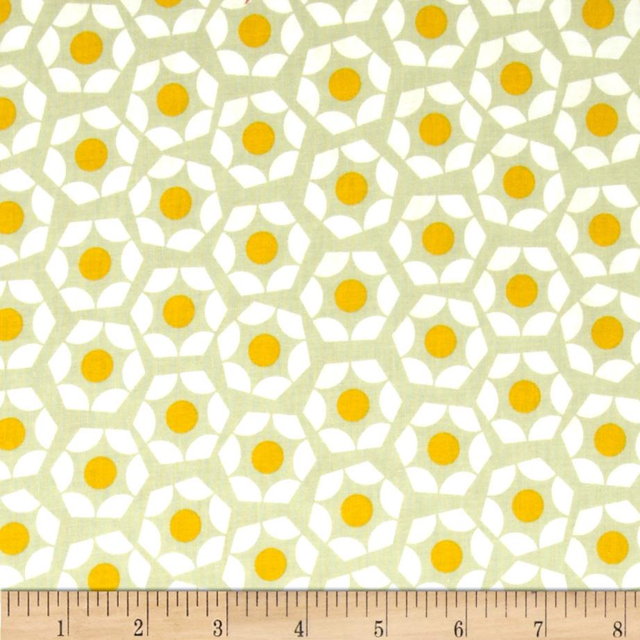 Cotton & Steel Moonlit Hexies Gold