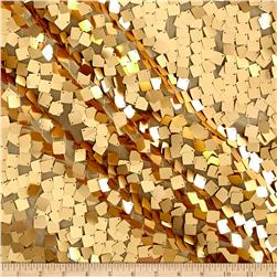 Square Dazzle & Mesh Sequin Gold