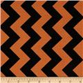 Riley Blake Medium Chevron Orange/Black
