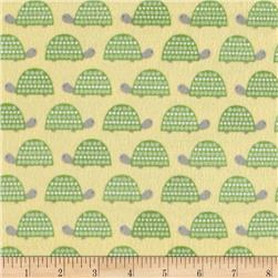 Robert Kaufman Wild Bunch Flannel Turtles Nature