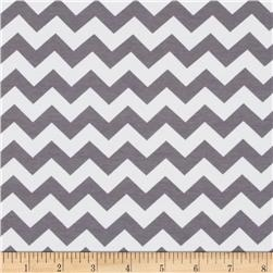 Riley Blake Cotton Jersey Knit Chevron Small Gray