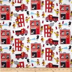 Timeless Treasures Firemen White