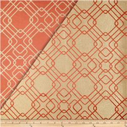 World Wide Rigel Metallic Geo Satin Jacquard Rust