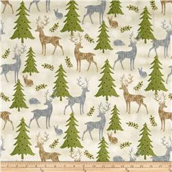 Holiday Meadow Animals Allover Tan