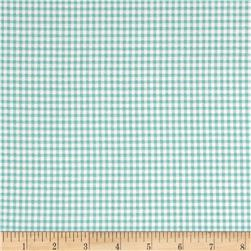 Magnolia Home Fashions Madrid Check Aqua Fabric