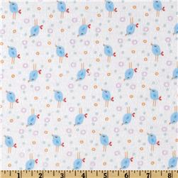 Fun the Bear Flannel Bird Party White