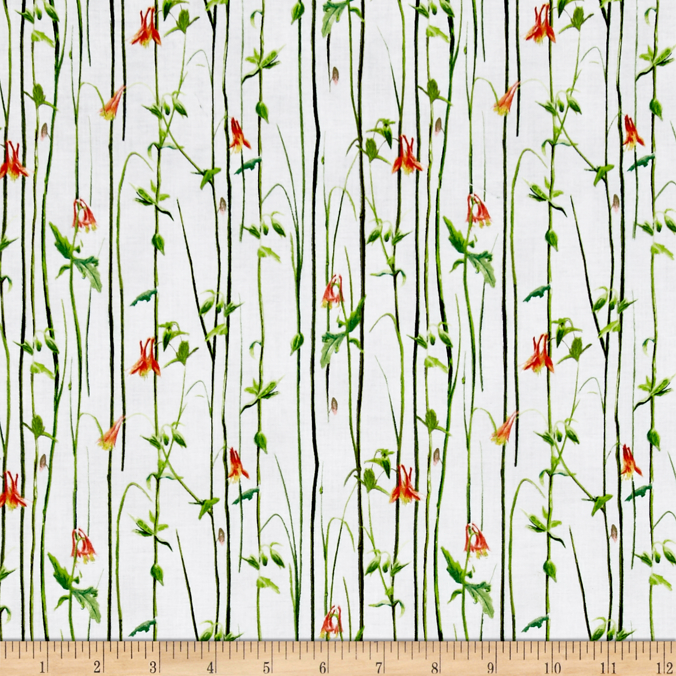 Hummingbirds Reed Stripe Gray Fabric by Quilting Treasures in USA
