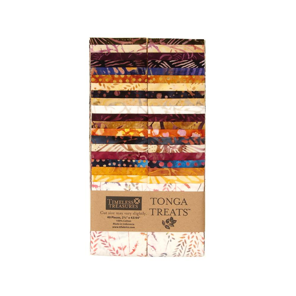 Timeless Treasures Tonga Batik Fig 2.5 In. Strips