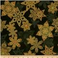 Holiday Flourish Metallic Star Evergreen
