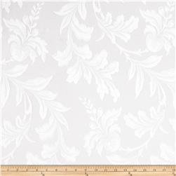 Starlight Botanical Lace Sheers White Fabric