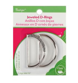 Jeweled D-Rings 1-1/2'' Clear
