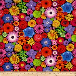 Bloominescent Digital Packed Floral Rainbow