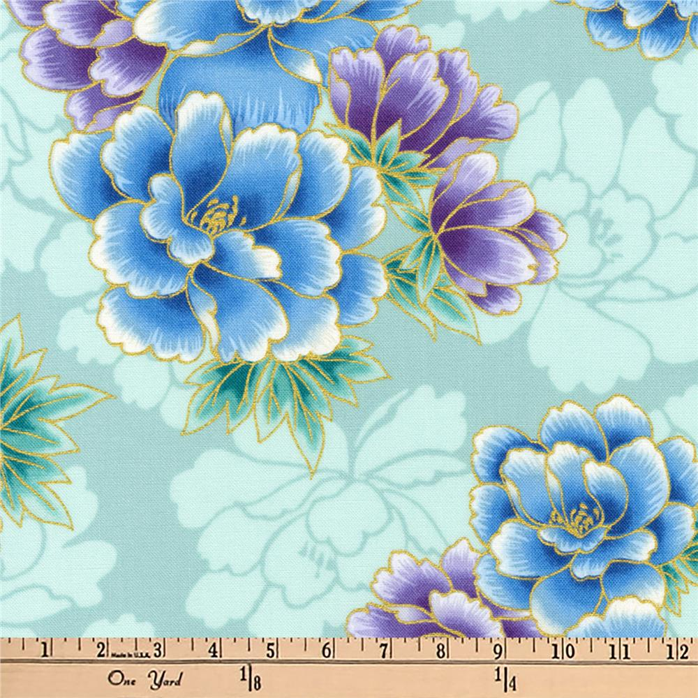 Kaufman Imperial Collection Metallic Flowers Jewel