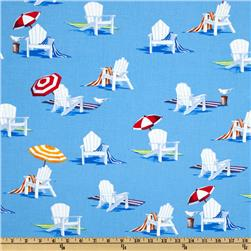 Moda Ocean View Beach Chairs Sky Blue