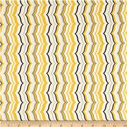 Celebrate the Season Metallic Wavy Chevron Gold