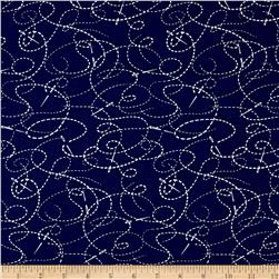 "108"" Wide Quilt Back Needle And Thread Navy"