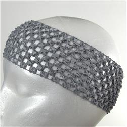 "2 3/4"" Crochet Headband Grey"
