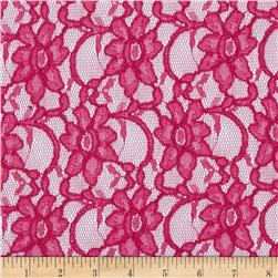 Supreme Lace Fuchsia Fabric