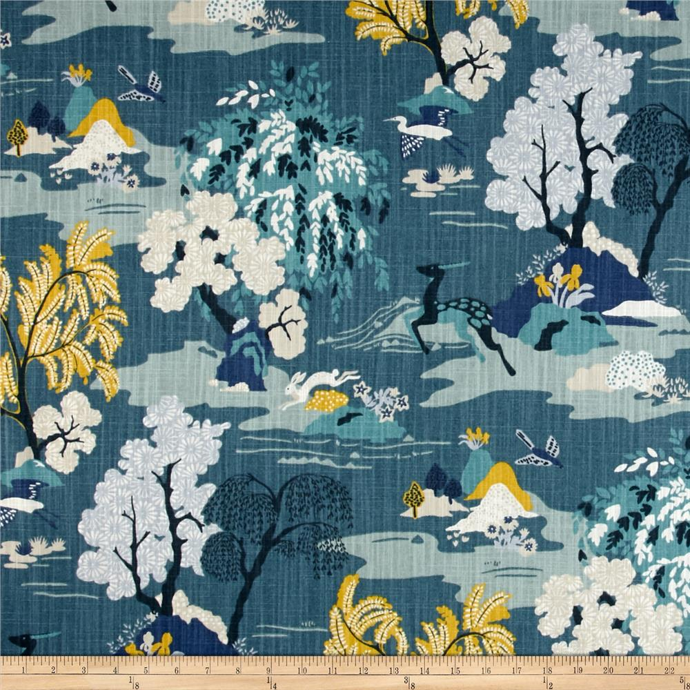 Dwell Studio Modern Toile Peacock