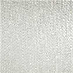 Luxury Faux Leather Perforated Basket White