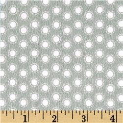 Riley Blake Little Ark Flannel Dot Grey