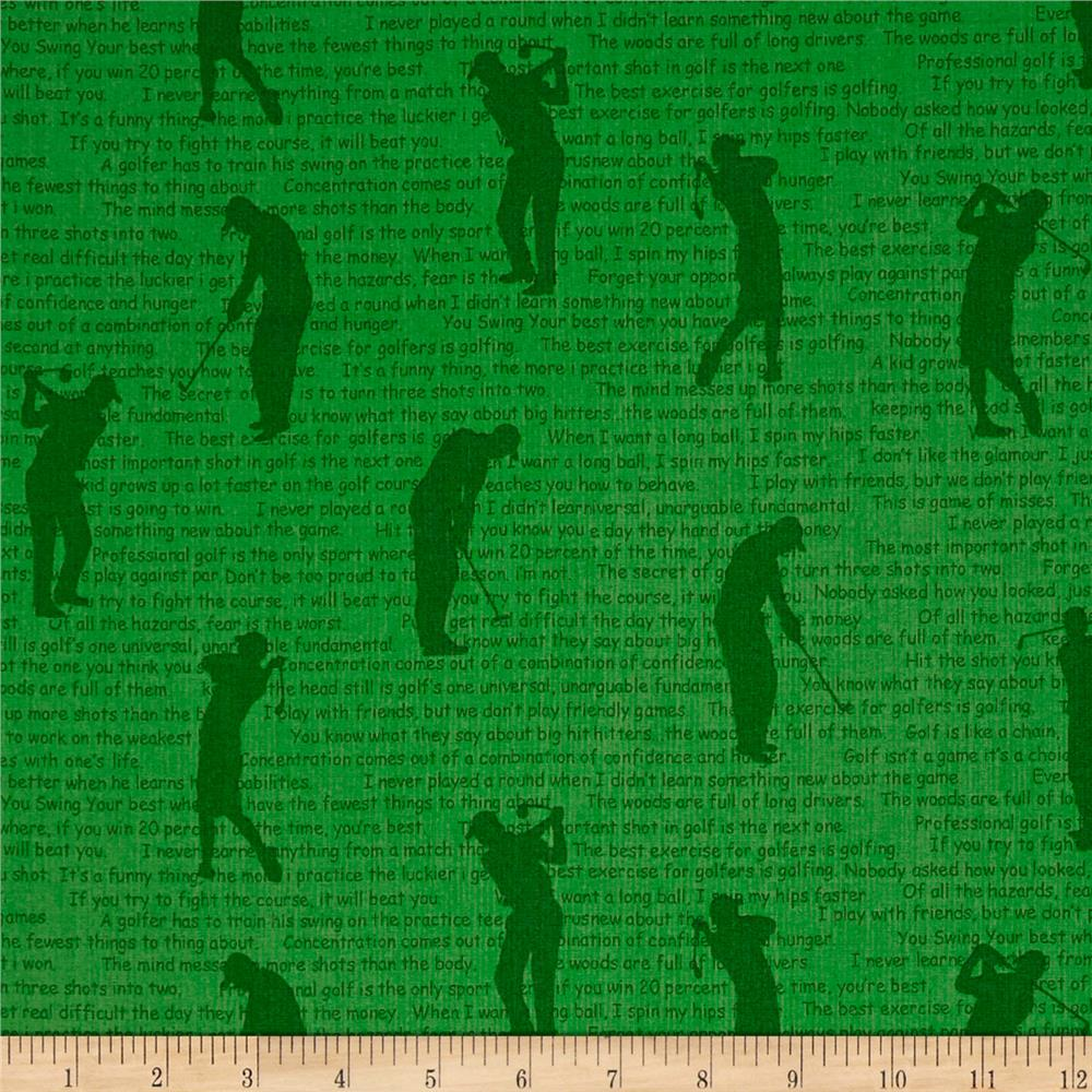 Hole in One Silhouettes Green