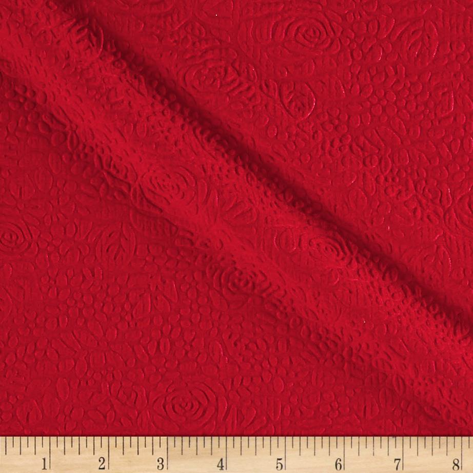 Techno Double Knit Jacquard Red