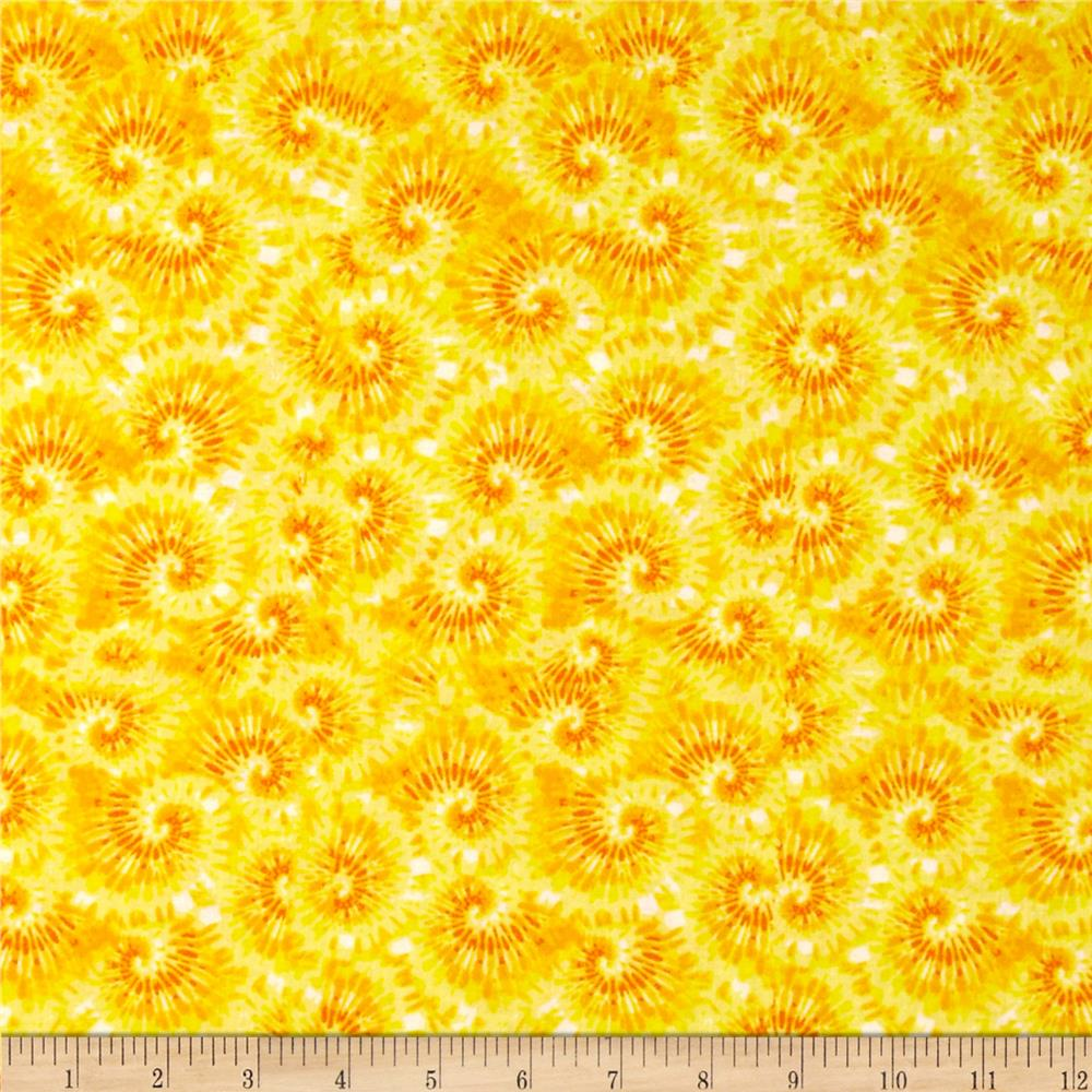 Tie Dye Swirl Yellow/Orange