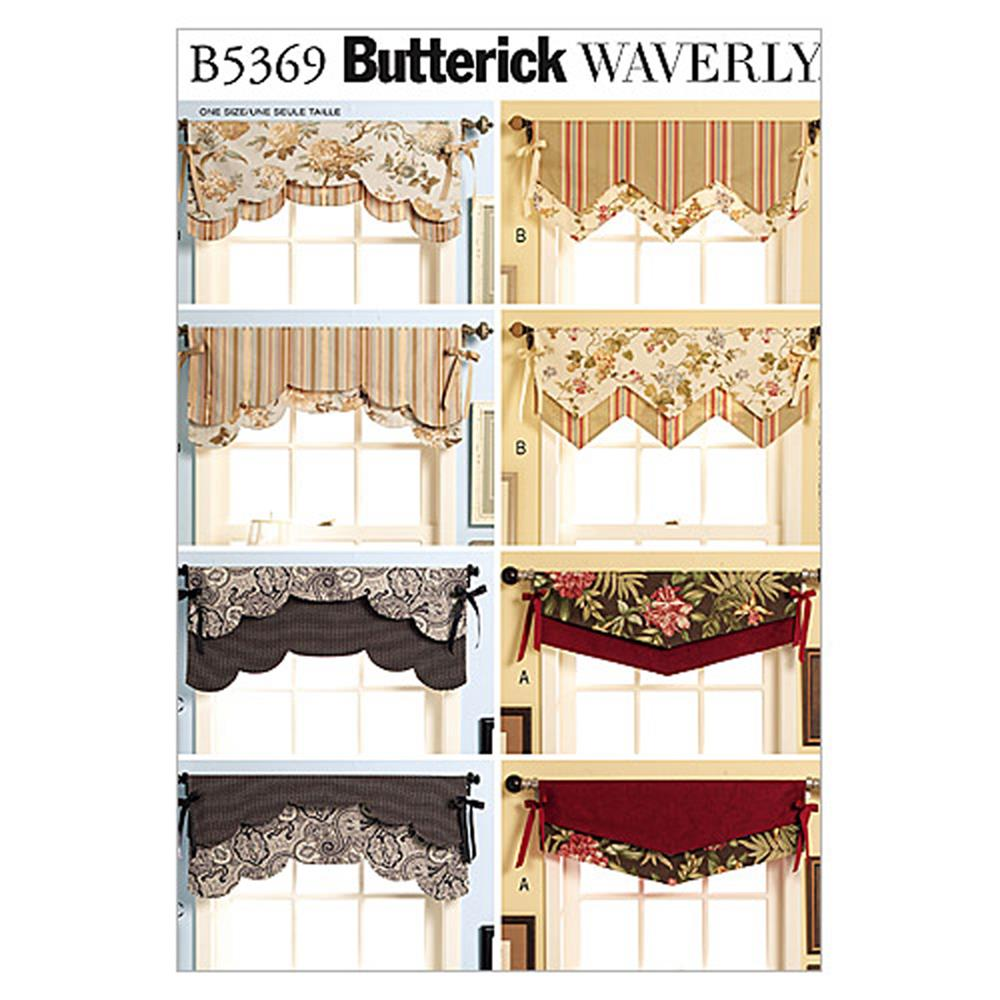 butterick fast easy reversible valances pattern b5369