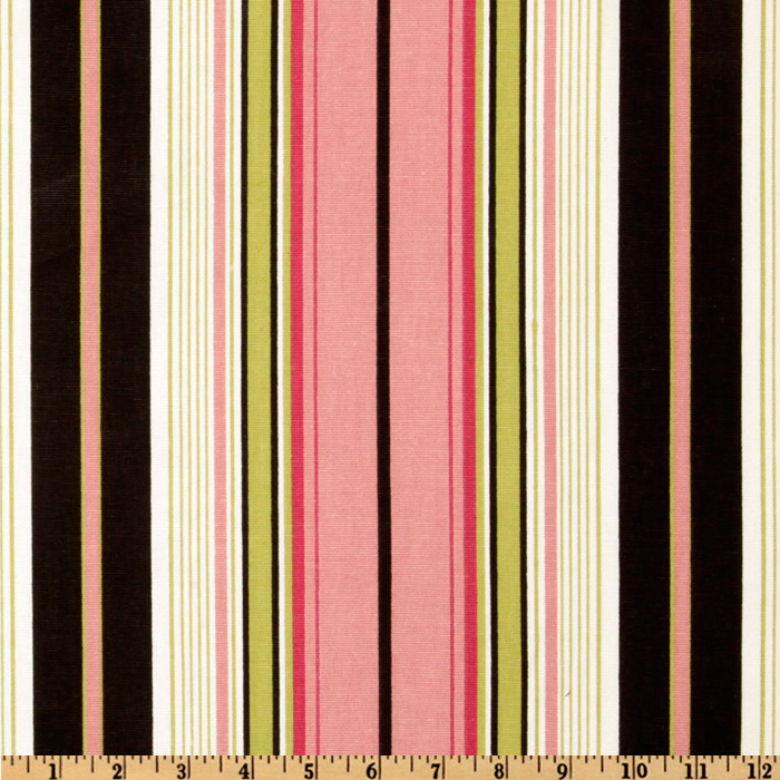 Premier Prints Terrace Stripe Black/Pink Fabric