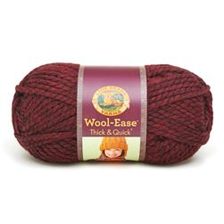 Lion Brand Wool Ease Thick & Quick Yarn (143) Claret