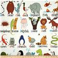 Alexander Henry Monkey's Bizness ABC with Me Animal Alphabet Natural