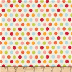 Riley Blake Just Dreamy 2 Flannel Dots Cream