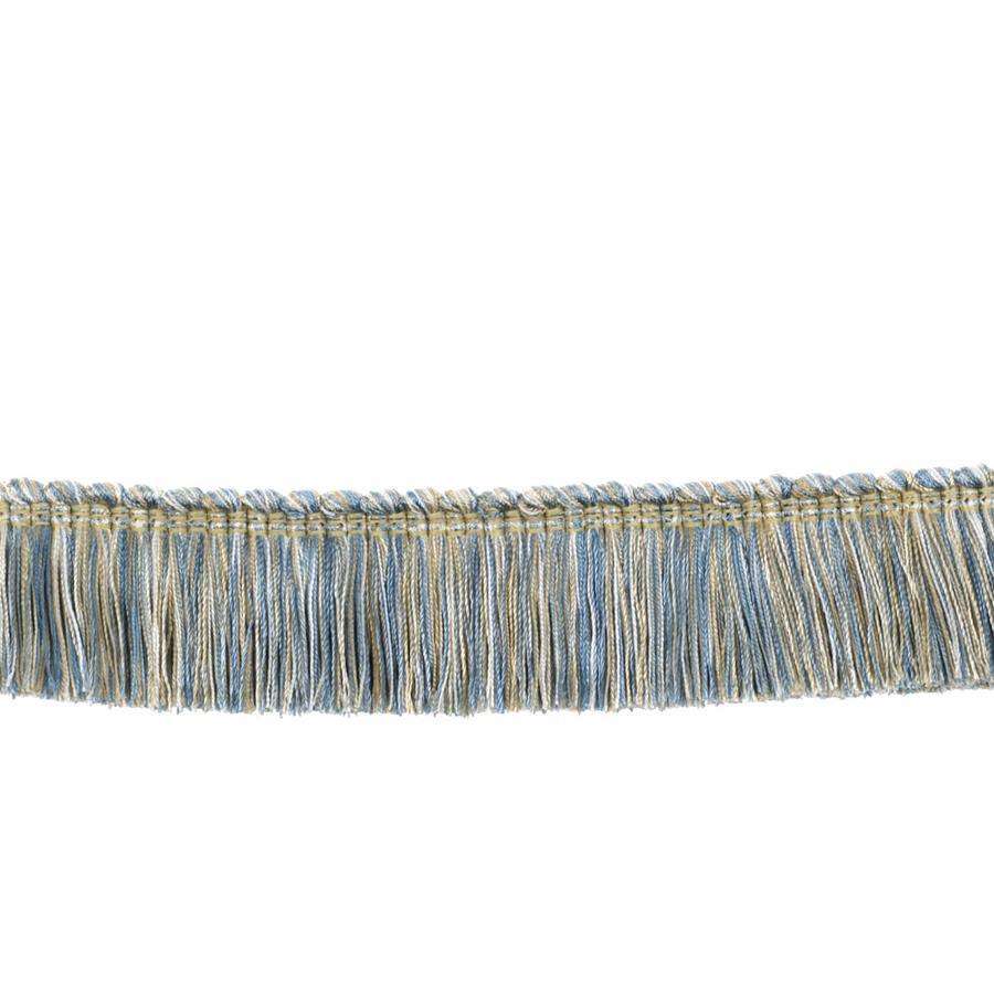 "Fabricut 2"" Honeybell Brush Fringe Azure"