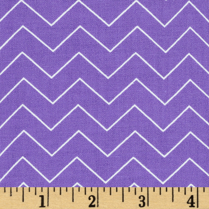 Zig Zag Chevron Purple Fabric