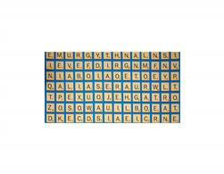 Game Night Scrabble Letter Tiles Blue