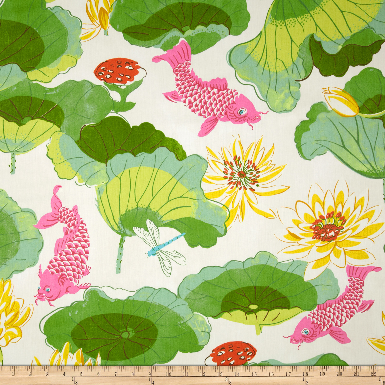 Waverly lotus chintz lake pool discount designer fabric for Chintz fabric