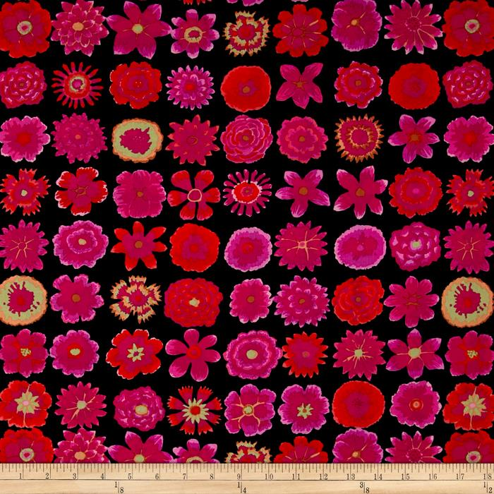 Kaffe Fassett Collective Button Flowers Black