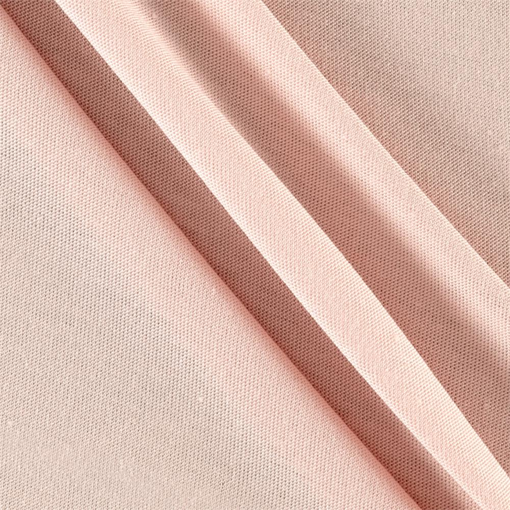 Rayon spandex jersey knit blush discount designer fabric for Lycra fabric