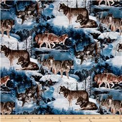 Animal Life Wolves in Winter Multi