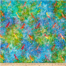 Timeless Treasures Tonga Batik Happy Hour Batik Birds Island