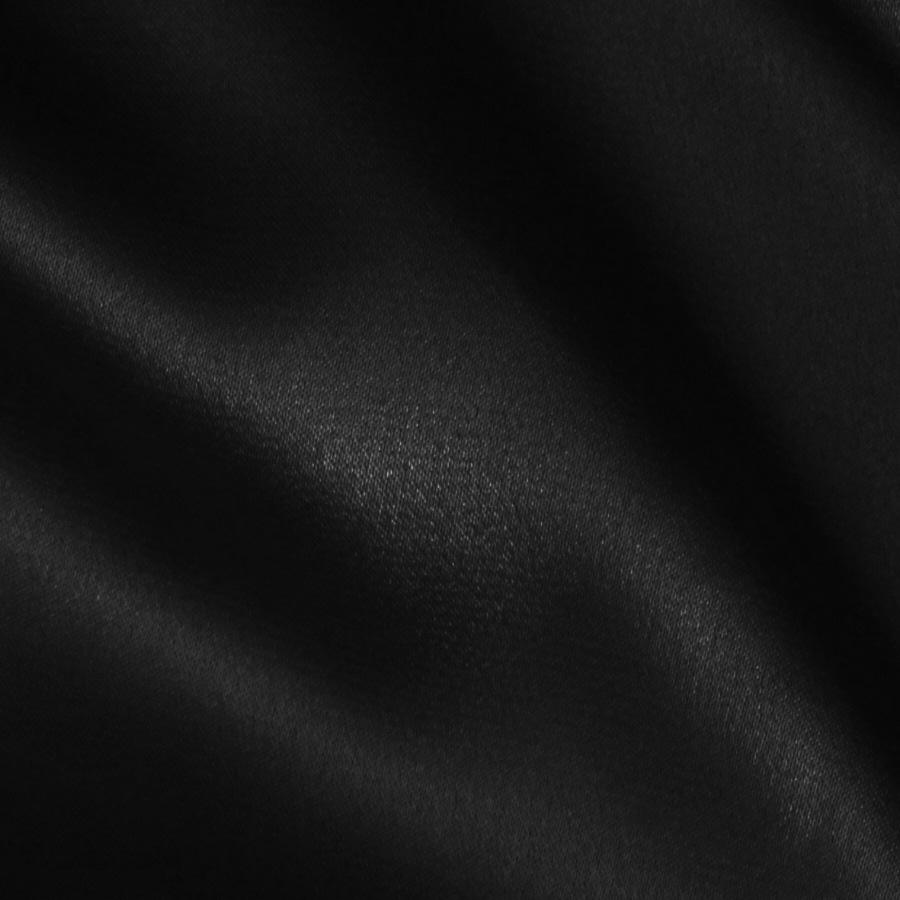 Charmeuse satin black discount designer fabric for Black fabric