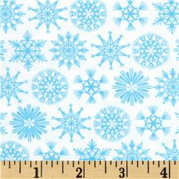 Moda Folk Art Holiday Flakes Ice