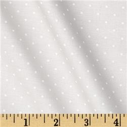 Moda Modern Background Paper Pindot White - Fog