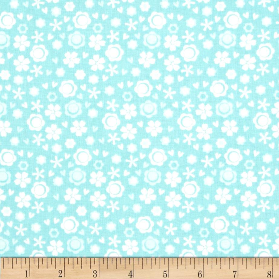 Itty Bitty Ditsy Floral Blue
