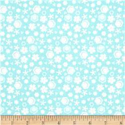 Itty Bitty Ditsy Floral Blue Fabric